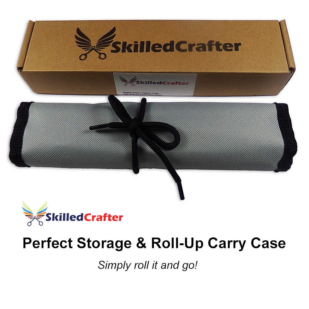 Roll Up Pottery Tools Case